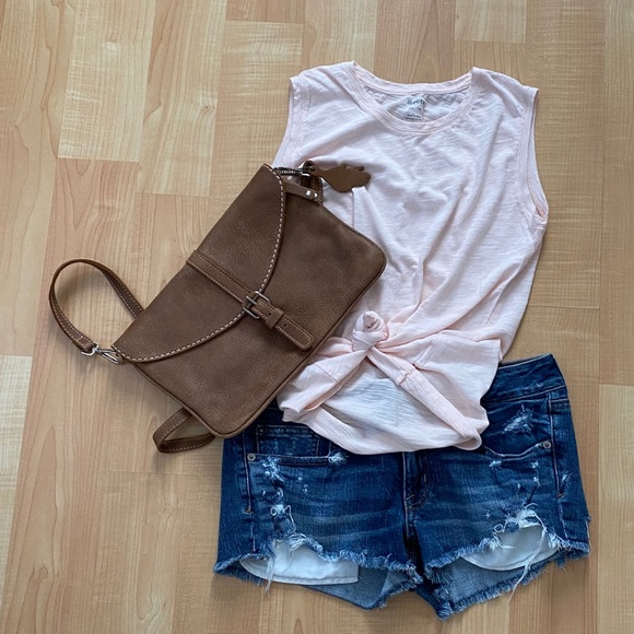 Roots Light Pink Tank Top XS